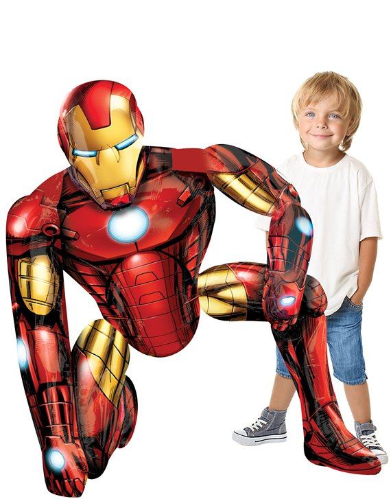Palloncino in foil Airwalker Iron Man - 116 cm