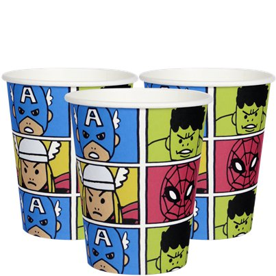 Avengers Pop - Bicchieri di carta 200 ml