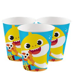 Bicchieri di carta Baby shark - 266 ml