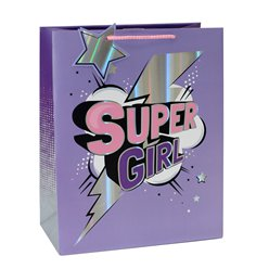 Borsa da regalo Super Girl - 33 cm