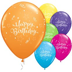 Palloncini in lattice Happy Birthday brillanti - 28 cm