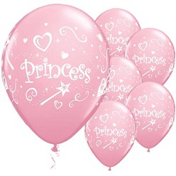 Palloncini in lattice Princess rosa - 28 cm