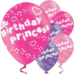 Palloncini in lattice Birthday Princess - 28 cm