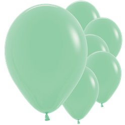 Palloncini in lattice verde menta - 30 cm