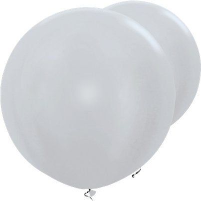 Palloncini in lattice giganti argento satinato - 91 cm