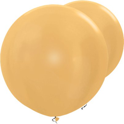 Palloncini in lattice giganti oro metallizzato - 91 cm