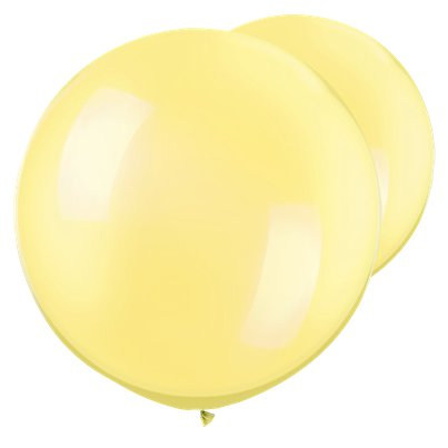 Palloncini in lattice giganti giallo limone perlato - 76 cm