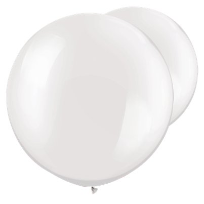 Palloncini in lattice giganti bianco perla - 76 cm