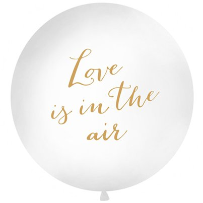 Palloncino in lattice grande scritta Love is in the air - 90 cm