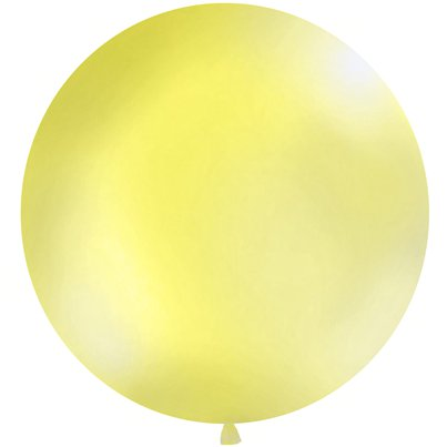 Palloncino in lattice gigante giallo pastello - 1 m