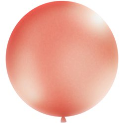 Palloncino in lattice gigante oro rosa metallizzato - 1 m