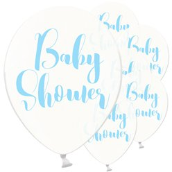 Palloncini in lattice per baby shower azzurri - 30 cm