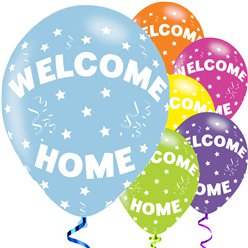 "Palloncini in lattice ""Welcome home"" - 28 cm"