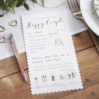 Cartoline con consigli matrimonio Beautiful Botanics