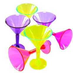 Mini bicchieri di plastica colorati per Martini - 42 ml