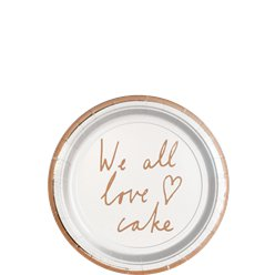 "Piatti da dessert ""We all love cake"" - 13 cm"