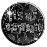 "Spilla ""It's my birthday"" nera grande - 15 cm"