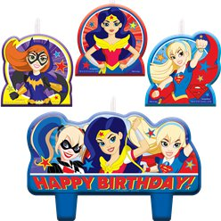 Candele per compleanno DC Superhero Girls