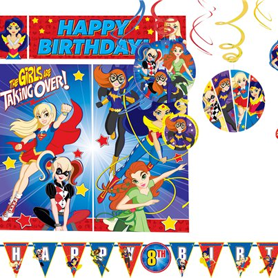 Set decorazioni per la stanza DC Superhero Girls