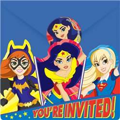 Cartoline di invito per feste DC Superhero Girls