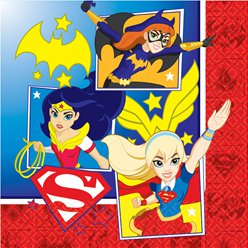 Tovaglioli di carta DC Superhero Girls - 2 veli