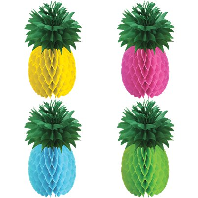 Decorazioni di carta ad ananas colorate