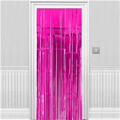 Decorazione per porte a frange rosa shocking metallizzato