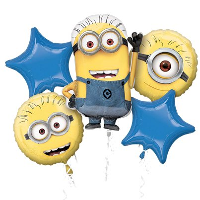 Bouquet di palloncini in foil Minions assortiti