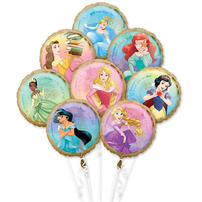 Bouquet di palloncini Principesse Disney in foil - Assortiti