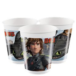 Bicchieri di plastica How to train your dragon - 200 ml