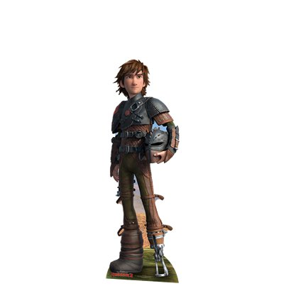 Sagoma di cartoncino Hiccup Dragon Trainer mini - 95 cm x 31 cm