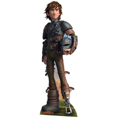 Sagoma di cartoncino Hiccup Dragon Trainer - 1,8 m
