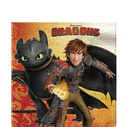 Tovaglioli di carta How to train your dragon - 33 cm
