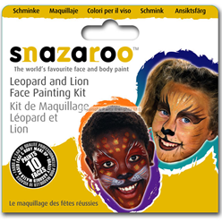 Kit per face painting leone e leopardo - 10 persone