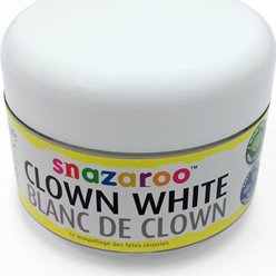 Pittura per viso Snazaroo bianca da clown - 50 ml