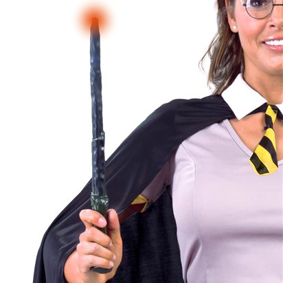 Bacchetta da mago con LED - Bacchetta Harry Potter - Accessori per Costumi di Carnevale da Harry Potter front