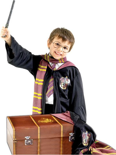 Set costume da Harry Potter e baule - Costume Bambino