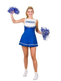Cheerleader Liceo Colore Blu
