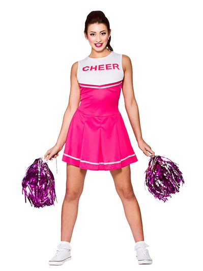 Cheerleader liceo rosa - Costume adulto