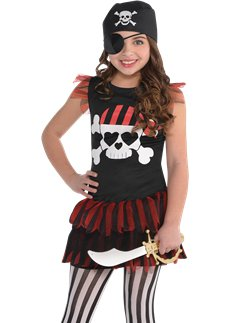 T-Shirt/Vestito Pirata - Costume Bambina
