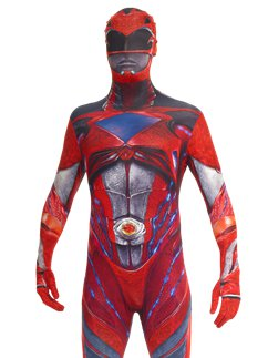 Morphsuit rossa del film Power Rangers