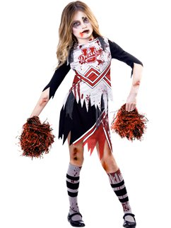 Ragazza Cheerleader Zombie