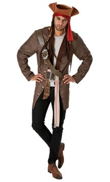 Jack Sparrow - Costume Adulto