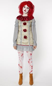 Donna clown vintage - Costume per adulto