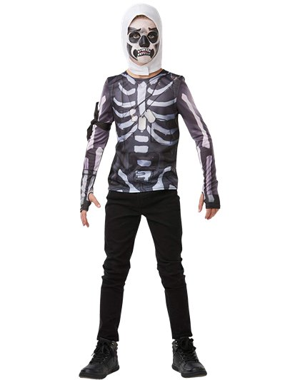 Kit costume Milite Teschio Fortnite 9-10 anni