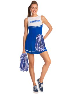 Cheerleader in blu