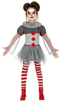 Piccola clown cattiva - Costume bambina