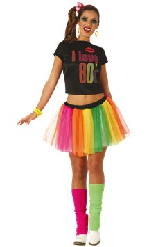 I love 80's - Costume adulto