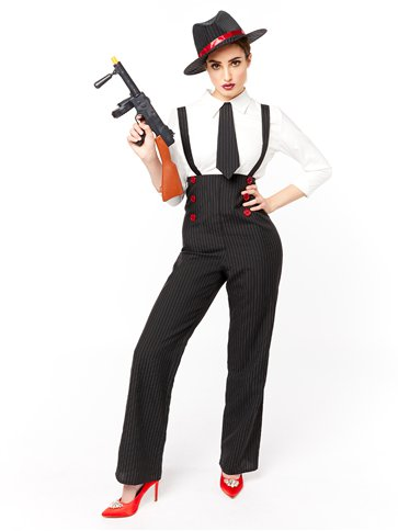 Donna gangster - Costume adulto pla