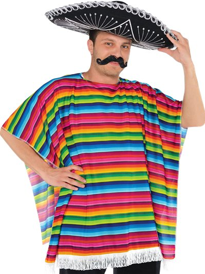 Poncho messicano - Costume da adulto